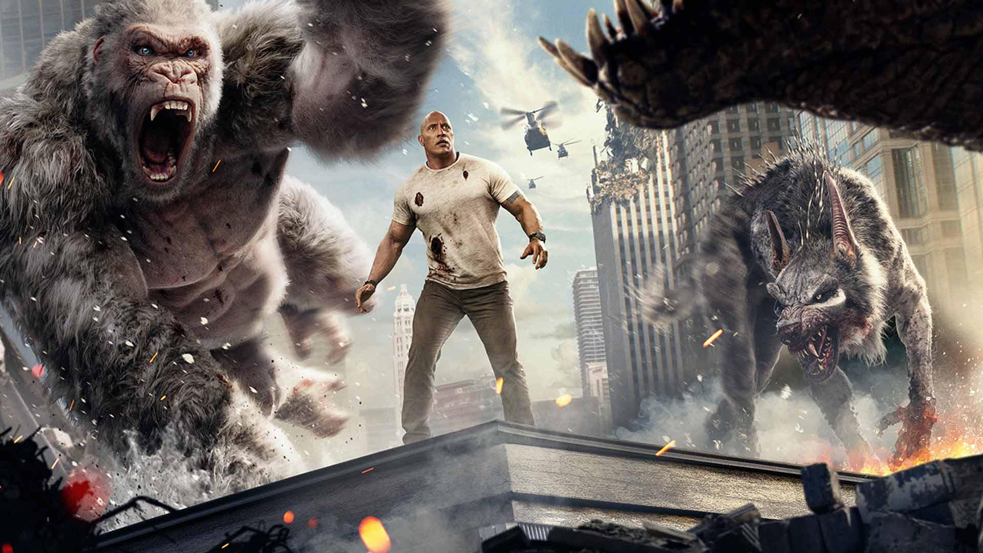 Rampage Movie Hd Wallpapers Download 1080p: Rampage: Destruição Total Chega Aos Cinemas De Brusque