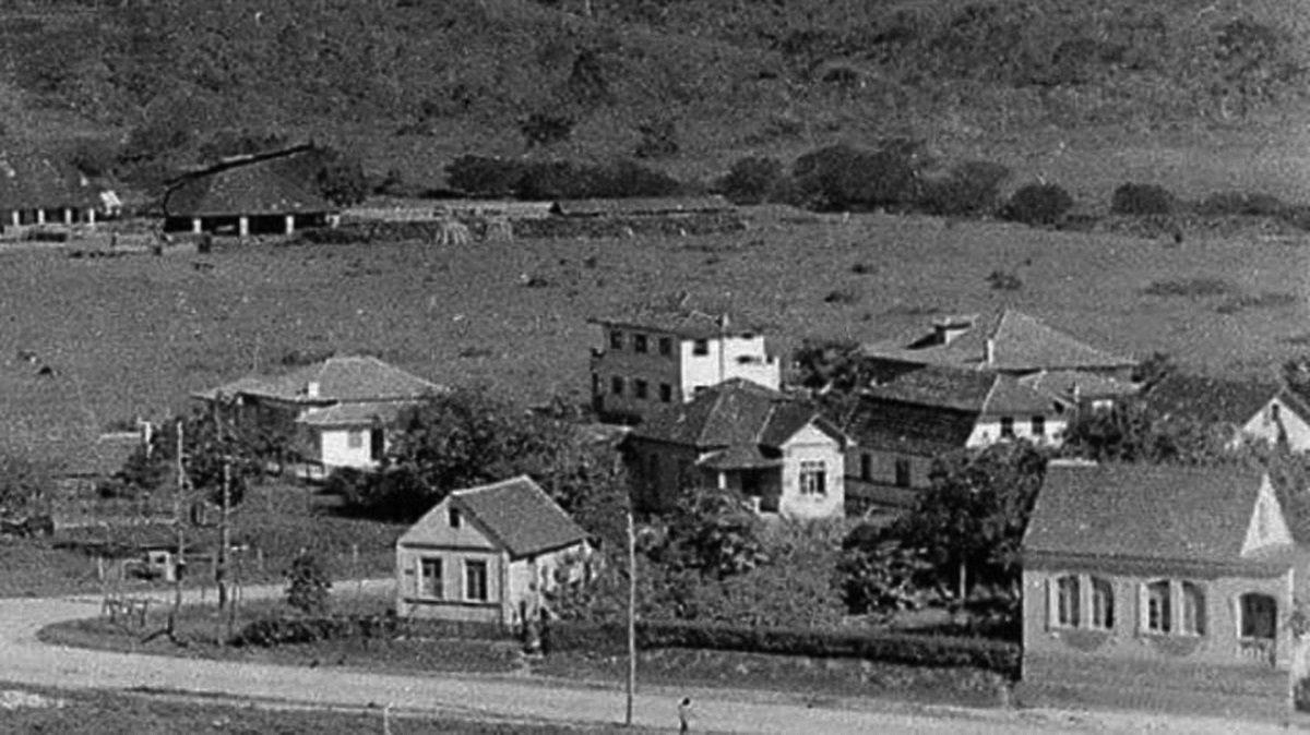 Jardim Maluche nos anos 1950, ainda com poucas casas no loteamento / Foto: Erico Zendron/Curto Fotos Antigas de Brusque