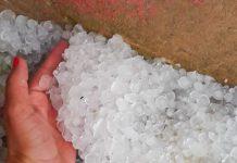 Chuva de granizo em Correia Pinto