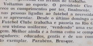 1988 Memória do Esporte Brusque 1988 Londrina racismo 2021