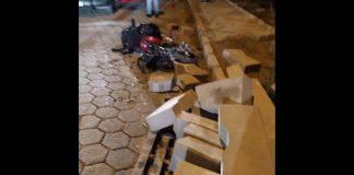 blocos de concreto acidente em Guabiruba