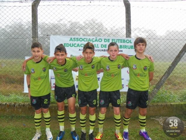 O lateral direito Lucas, o lateral esquerdo Henrique, o zagueiro Kayan, e os volantes Igor e Nathan
