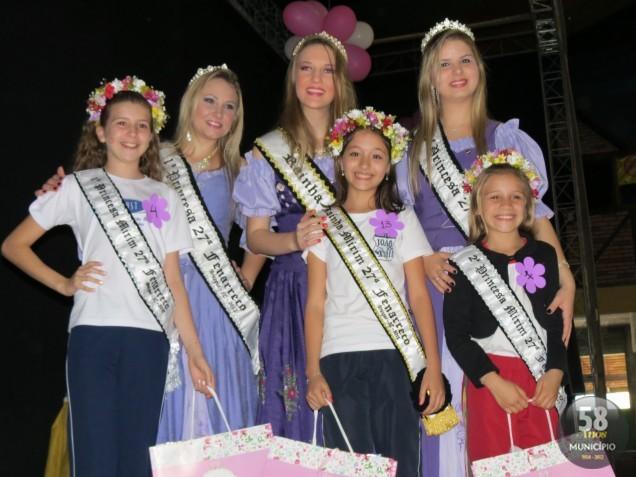 Rainha e princesas mirim eleitas para a 27ª Fenarreco