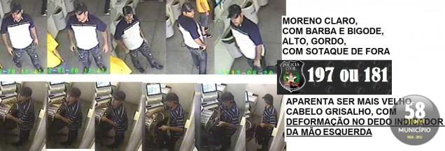 Criminosos levaram R$11 mil e foram registrados pelas câmeras de segurança