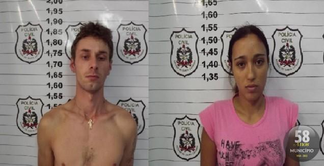 Jonathan de Cristo, 23 anos, e Jaqueline de Matos, 22 anos, foram presos acusados de tráfico