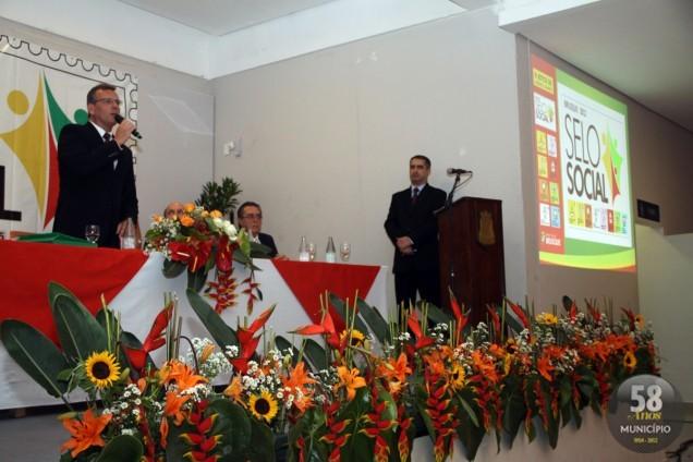 Durante a solenidade de certificação, o prefeito Paulo Eccel falou da importância que tais ações trazem para o mundo