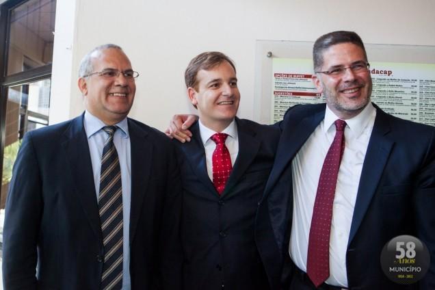 Dividem a presidência, Marcão como vice, Tullo Cavallazzi Filho como presidente da entidade e da CAASC, Paulo Marcondes Brincas