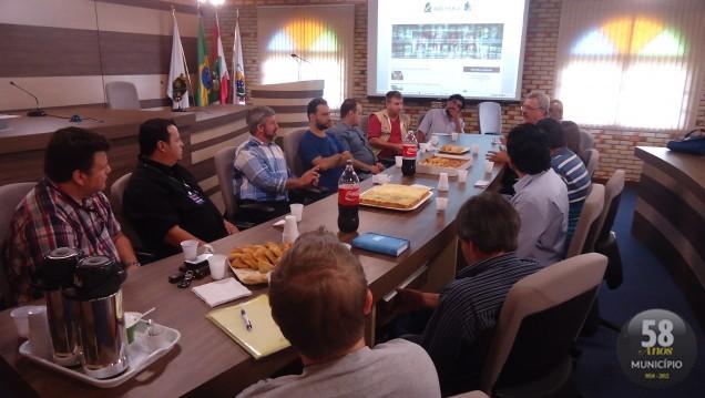 Durante o encontro, o presidente informou que a Sala de Imprensa Jornalista Mauro Cadore será revitalizada e identificada