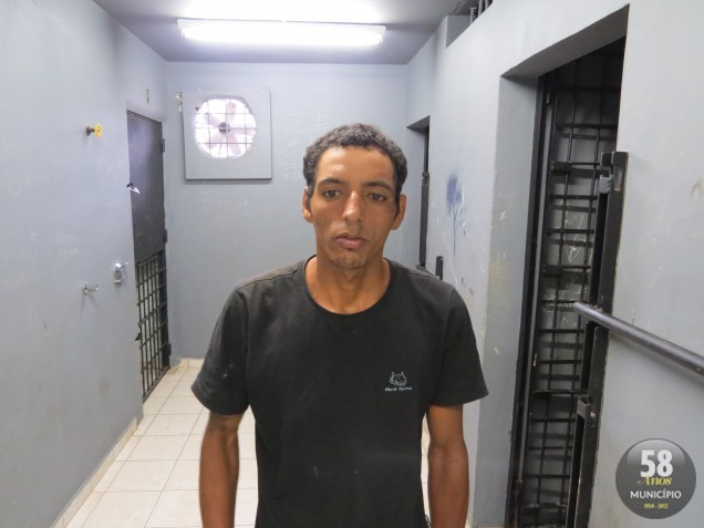 Mayckon Leandro da Silva, 28 anos, foi preso por furtar dinheiro no comércio Disk Gás e Água Águas Claras