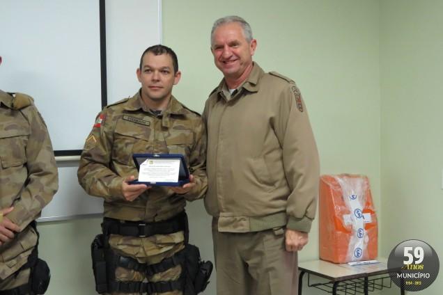 Soldado Steinbach é destaque pela segunda vez na premiação e ficou em segundo lugar do grupo pró-atividade estadual