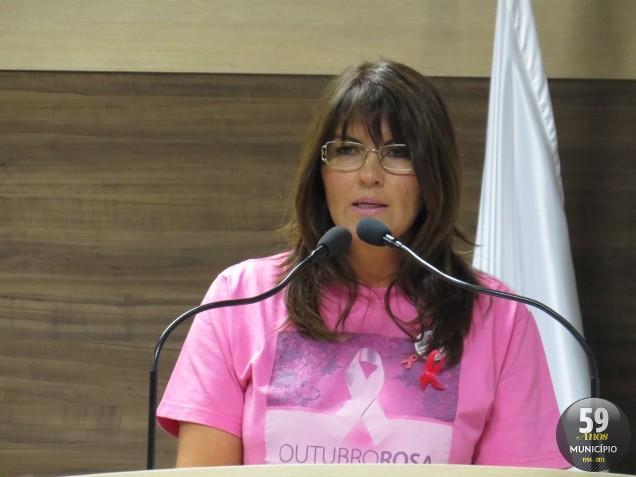 Sonia Fischer destaca o crescimento da procura de prevenção e tratamento do câncer, pelas mulheres do município