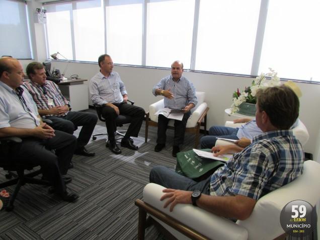 Diretoria da AmpeBr esteve no Sebrae-SC, em Florianópolis, na quarta-feira, 26