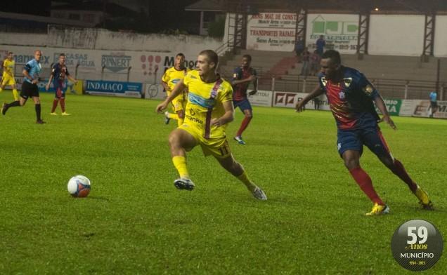 Time do Alto Vale estreou no hexagonal com derrota em casa para o Marcílio Dias