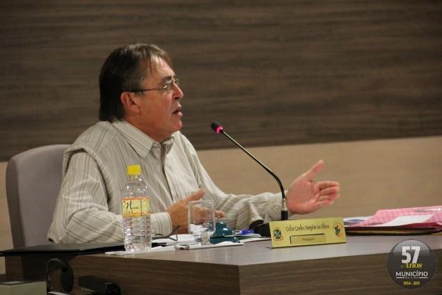 O presidente Celso Carlos Emydio da Silva (PSD) garantiu que votação ocorre na semana que vem, dia 5 de junho, às 18 horas