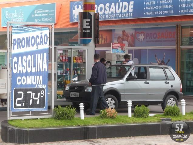 Média do preço do litro da gasolina em Santa Catarina é R$ 2,72.